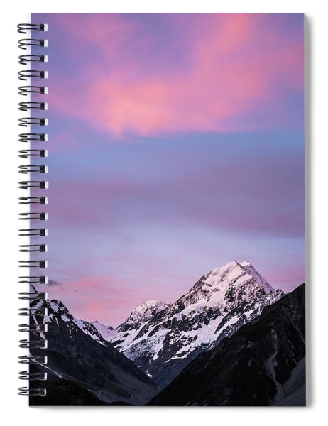 Mount Cook Sunset Spiral Notebook
