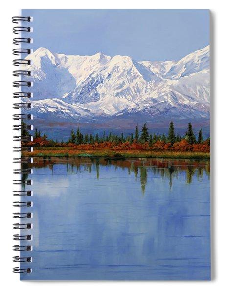 mount Denali in Alaska Spiral Notebook