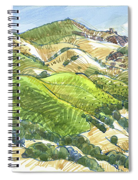Mount Diablo From Curry Point Spiral Notebook