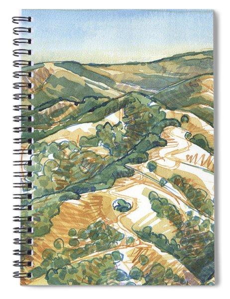 Mount Diablo, Round Top Viewpoint Spiral Notebook