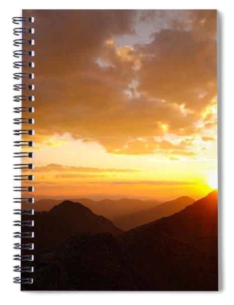 Mount Evans Sunset Spiral Notebook