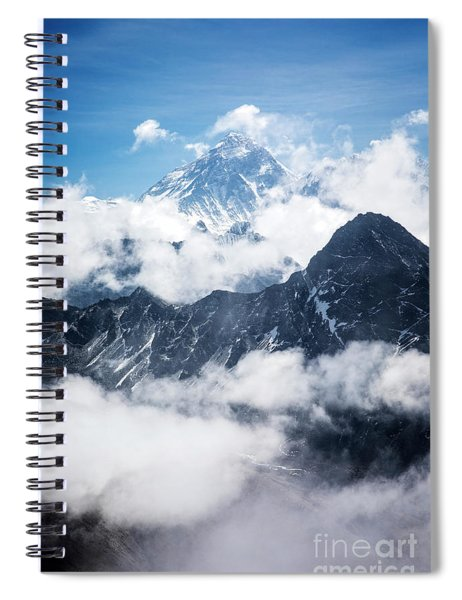 Mount Everest Above The Clouds Spiral Notebook by Scott Kemper