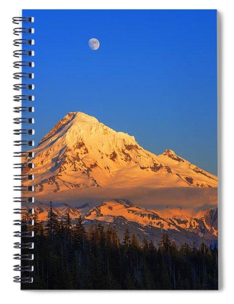 Mount Hood Last Light In Oregon Usa Spiral Notebook