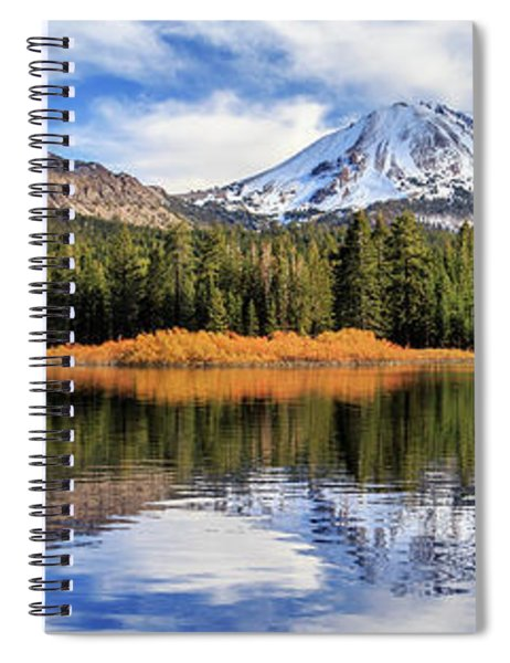 Mount Lassen Reflections Panorama Spiral Notebook