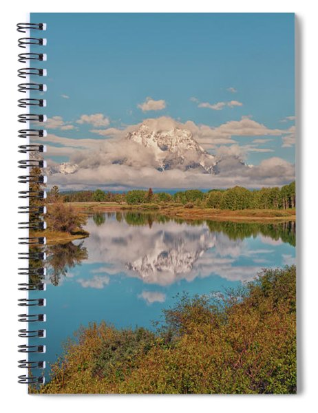 Mount Moran On Oxbow Bend Spiral Notebook