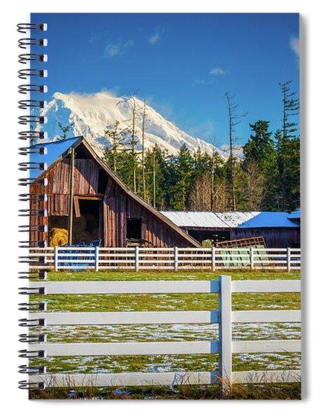 Mount Rainier Barns Spiral Notebook by Inge Johnsson