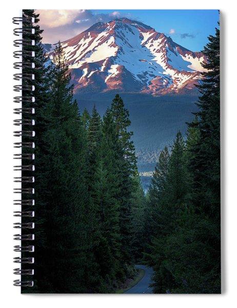 Mount Shasta - A Roadside View Spiral Notebook