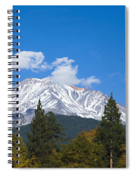 Mount Shasta California Spiral Notebook