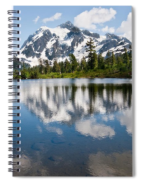 Mount Shuksan Reflected In Picture Lake Spiral Notebook