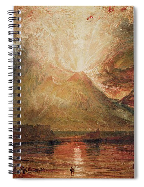 Mount Vesuvius In Eruption Spiral Notebook
