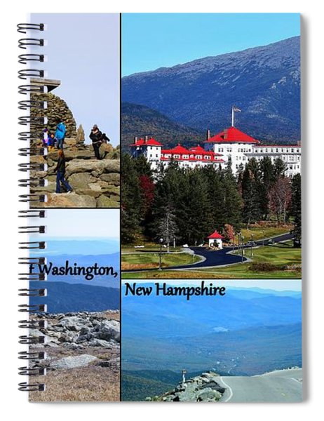 Mount Washington Collage Spiral Notebook by Patti Whitten