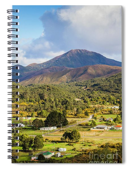 Mount Zeehan Valley Town. West Tasmania Australia Spiral Notebook
