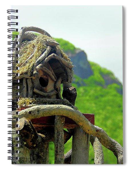 Mountain Birdhouse Spiral Notebook