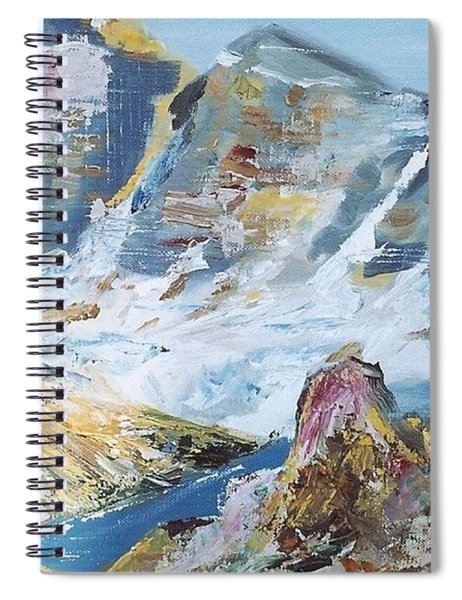 Mountain Done With Knife Spiral Notebook