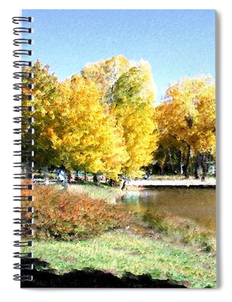 Mountain Lake Autumn Spiral Notebook