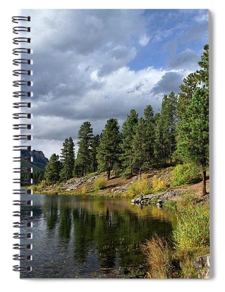 Mountain Lake In Autumn Spiral Notebook