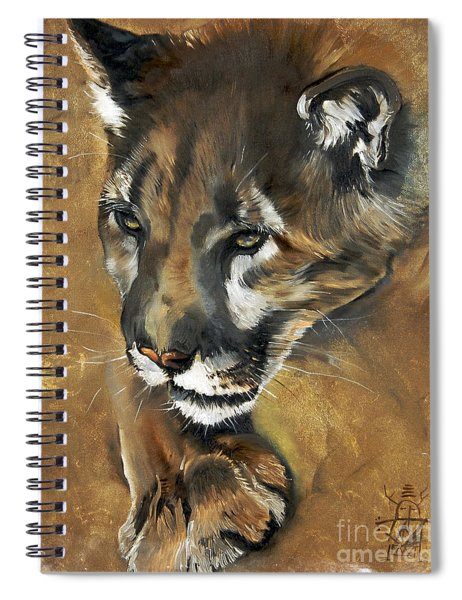 Mountain Lion - Guardian Of The North Spiral Notebook