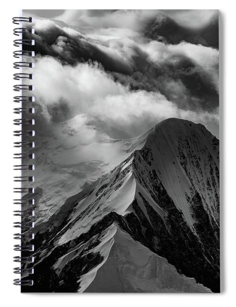 Mountain Peak In Black And White Spiral Notebook