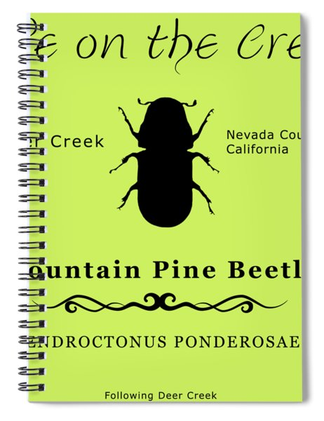 Mountain Pine Beetle Black On White Spiral Notebook