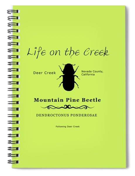 Mountain Pine Beetle Black On White Spiral Notebook