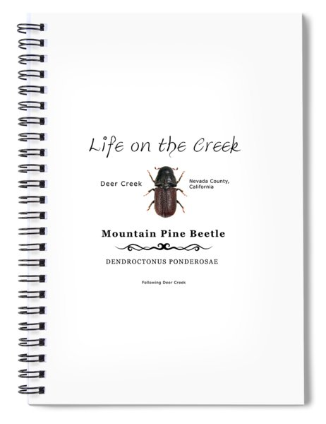 Mountain Pine Beetle Color Spiral Notebook