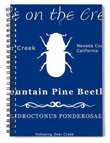 Mountain Pine Beetle White On Black Spiral Notebook