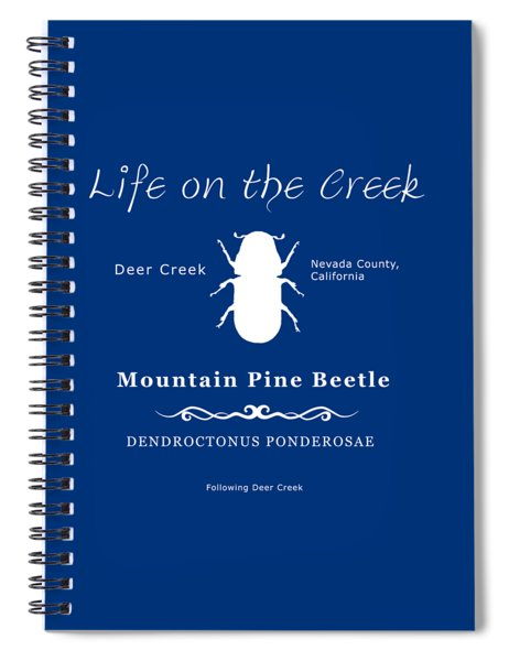 Mountain Pine Beetle White On Black Spiral Notebook