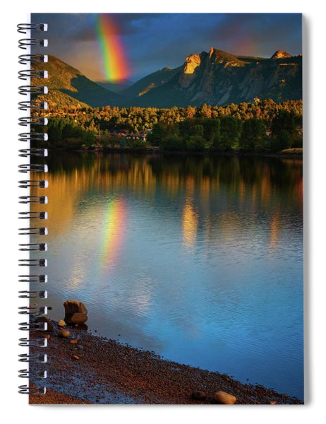 Spiral Notebook featuring the photograph Mountain Rainbows by John De Bord