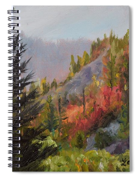 Mountain Slope Fall Spiral Notebook