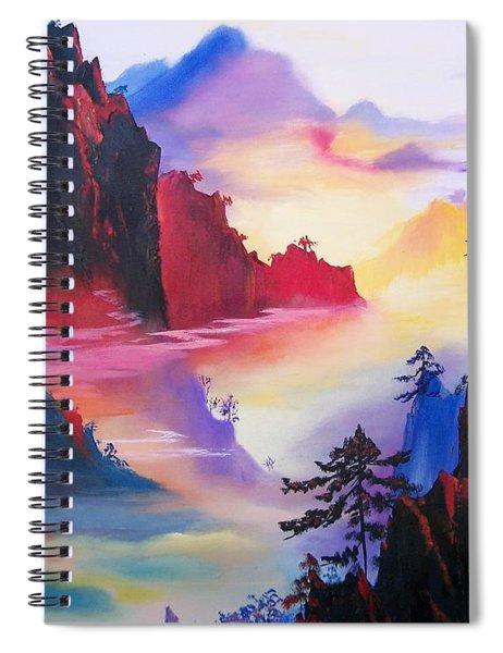 Mountain Top Sunrise Spiral Notebook