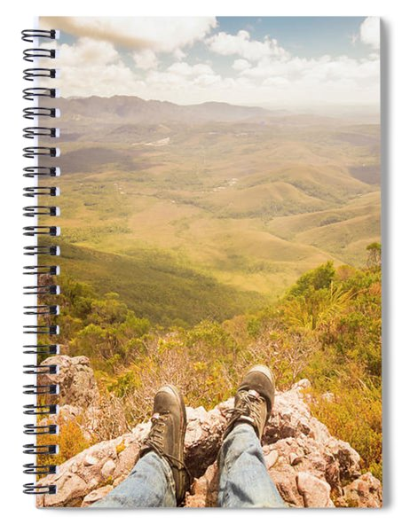 Mountain Valley Landscape Spiral Notebook