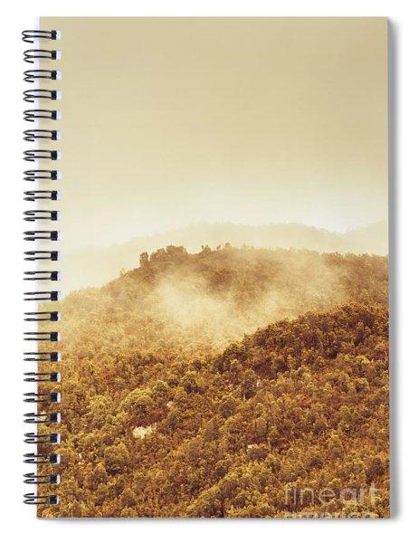 Mountainous Tasmanian Mist Spiral Notebook