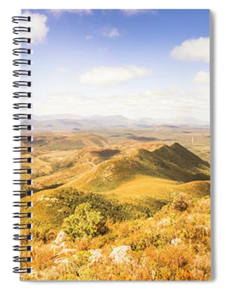 Mountains And Open Spaces Spiral Notebook