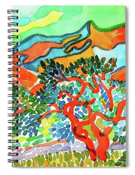 Mountains At Collioure Spiral Notebook