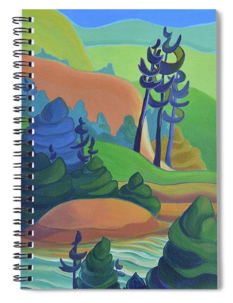 Hills In Spring Spiral Notebook