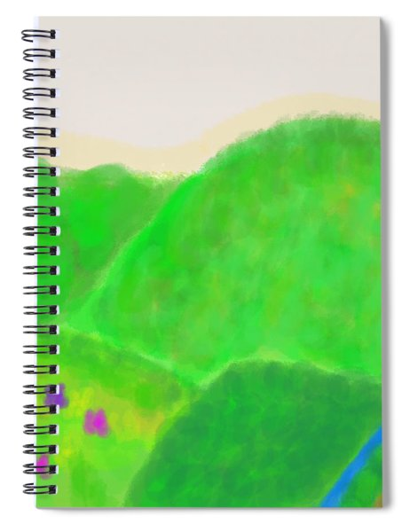 Mountains Of Land And Love Spiral Notebook