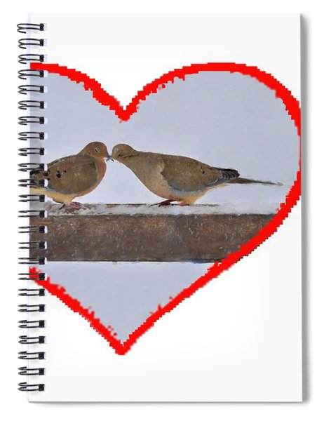 Mourning Doves Kissing Spiral Notebook