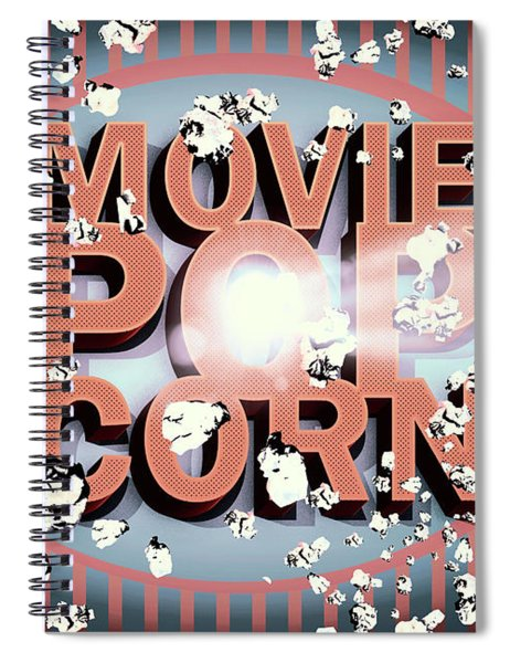 Movie Pop Corn Spiral Notebook