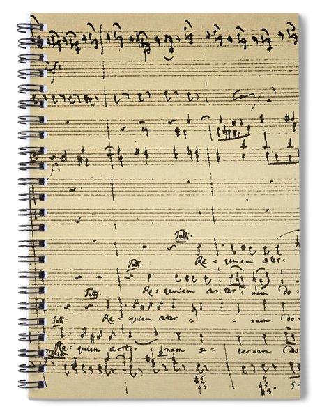 Mozart: Requiem Excerpt Spiral Notebook