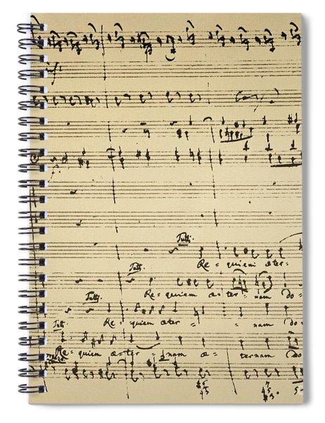 Mozart: Requiem Excerpt Spiral Notebook