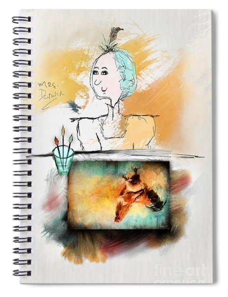 Mrs. Darwin's Theory Of Evolution Self Portrait  Spiral Notebook