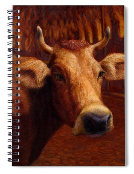Spiral Notebook featuring the painting Mrs. O'leary's Cow by James W Johnson