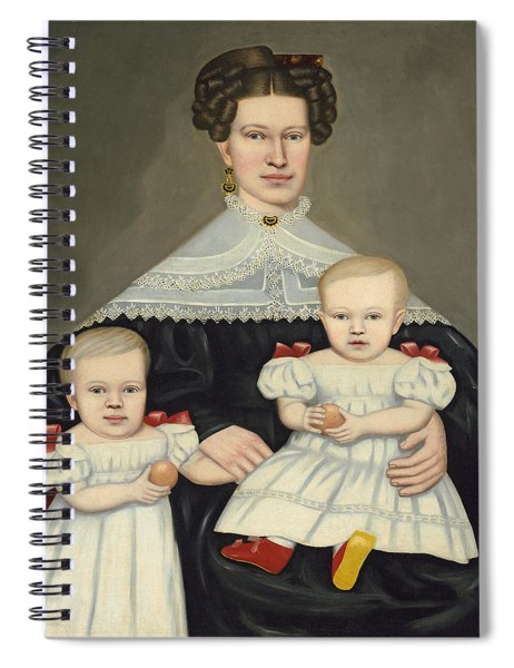 Mrs Paul Smith Palmer And Her Twins Spiral Notebook