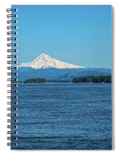 Mt. Hood Above The Columbia River Spiral Notebook