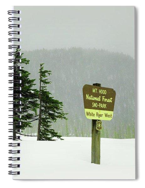 Mt Hood National Forest Spiral Notebook