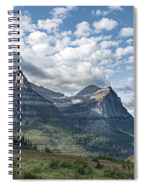 Mt. Oberlin From Logan Pass Spiral Notebook