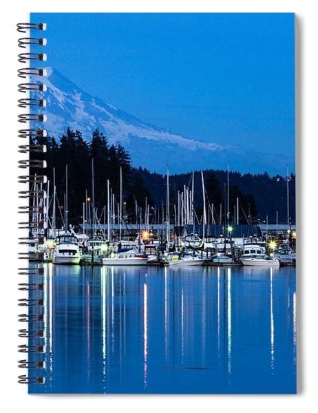 Mt. Rainier From Gig Harbor Spiral Notebook