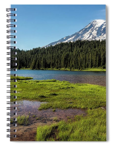 Mt Rainier From Reflection Lake, No. 2 Spiral Notebook