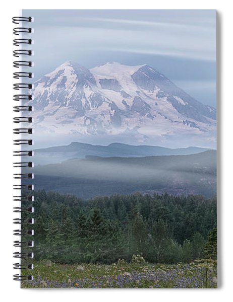 Spiral Notebook featuring the photograph Mt. Rainier by Patti Deters
