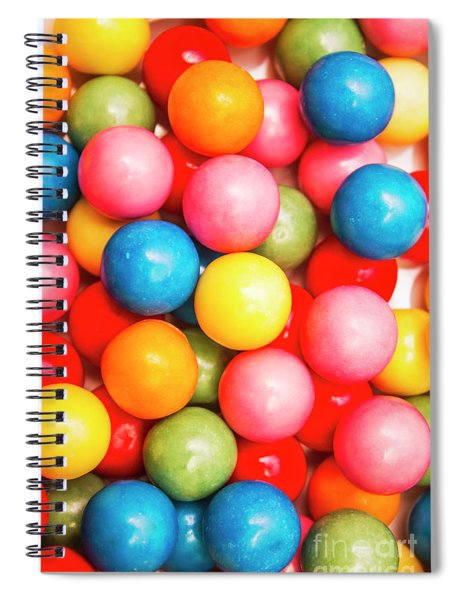 Multi Colored Gumballs. Sweets Background Spiral Notebook